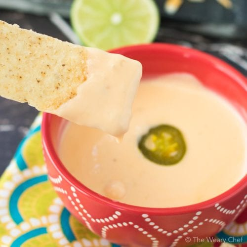 Easy Microwave Mexican Queso Dip!