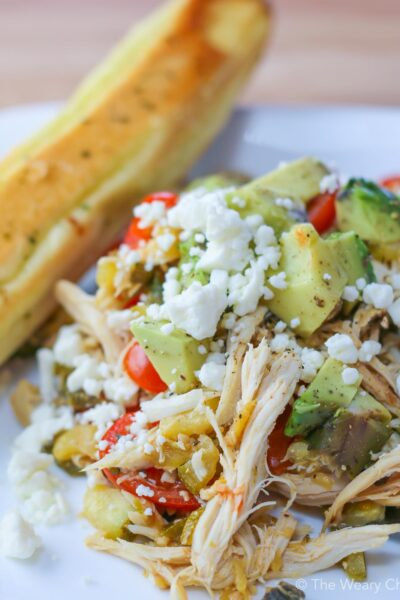 Rotisserie Chicken Stir Fry with Feta Cheese and Vegetables