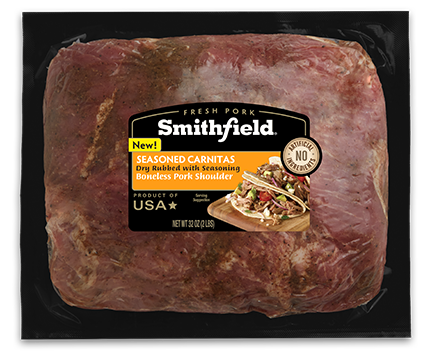Smithfield Boneless Pork Shoulder Seasoned Carnitas