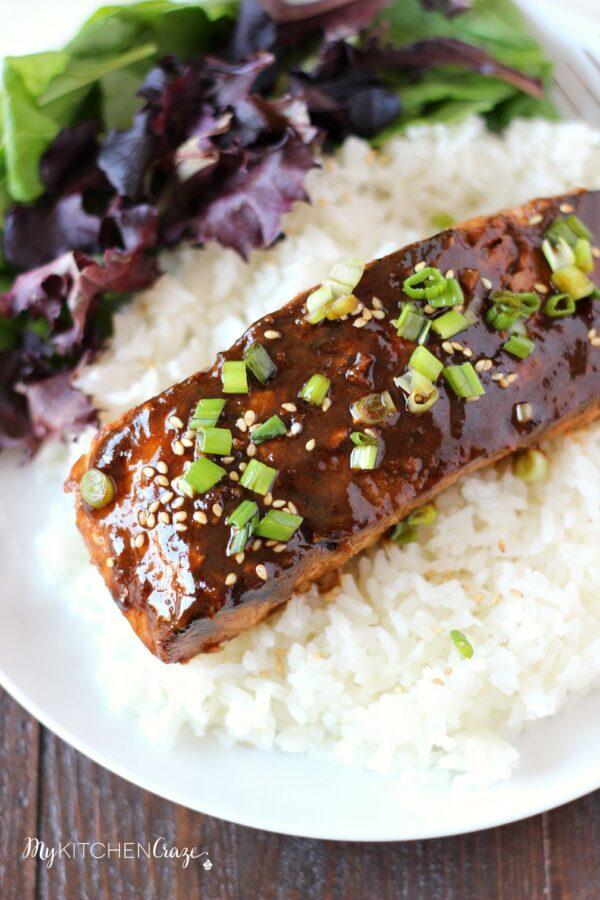 Honey Sriracha Glazed Salmon - My Kitchen Craze