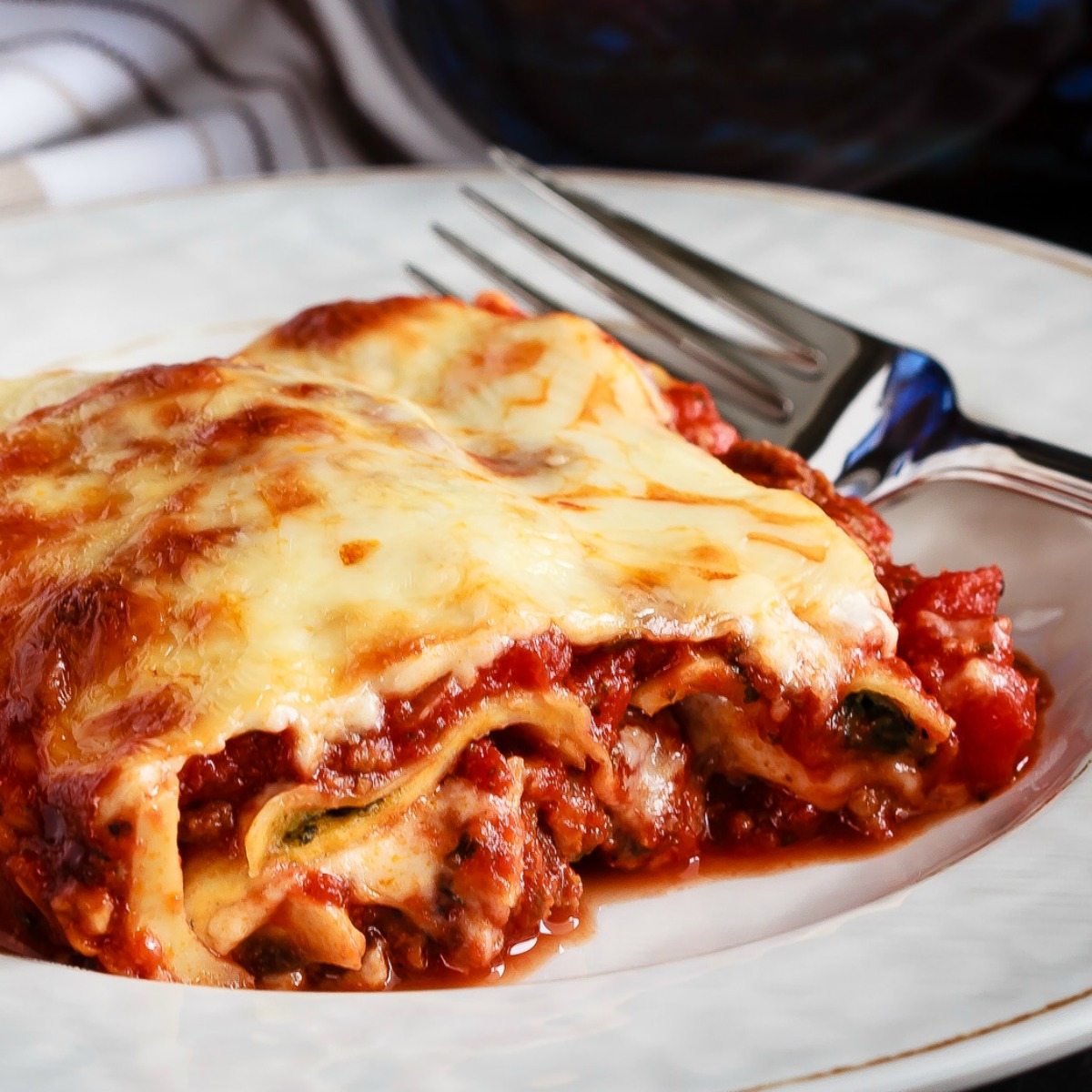 An easier and faster version of a favorite pasta dish, this ravioli lasagna is absolutely amazing. Quick to make and tastes like the real thing!