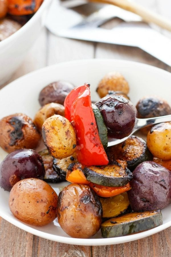BBQ Potatoes and Vegetable Medley - The Cookie Writer