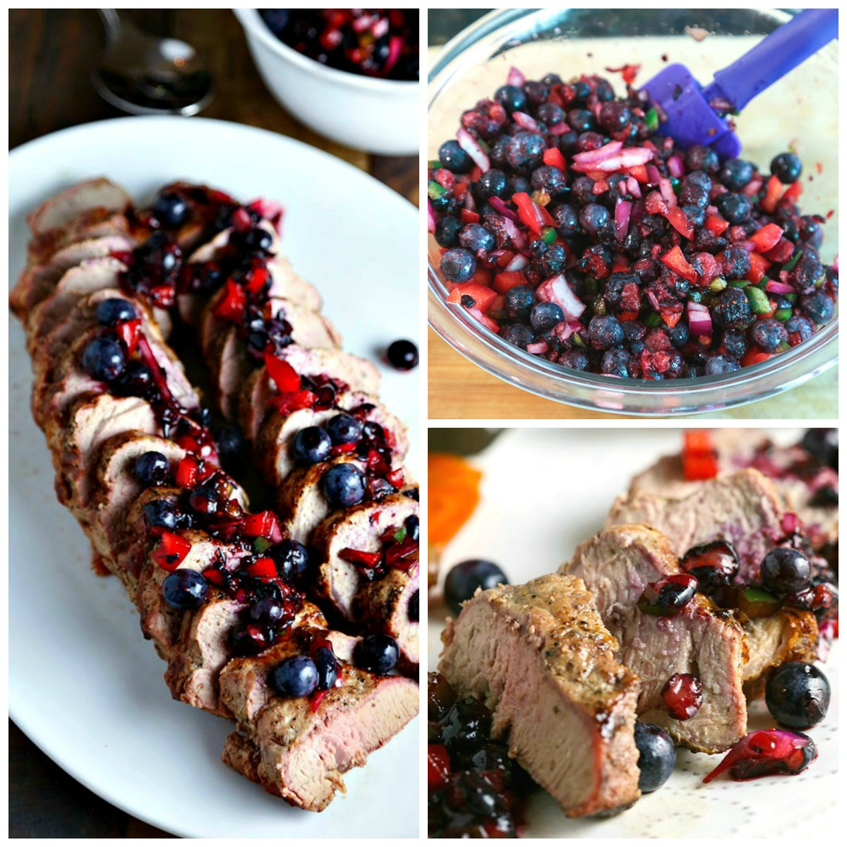 You will love this perfect summer recipe for Grilled Pork Tenderloin with Blueberry Salsa. Fresh, tender pork is grilled to perfection and then topped with a spicy berry salsa for an easy, delicious weeknight dinner recipe!
