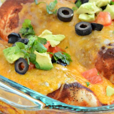 Low Carb Enchilada Chicken Bake