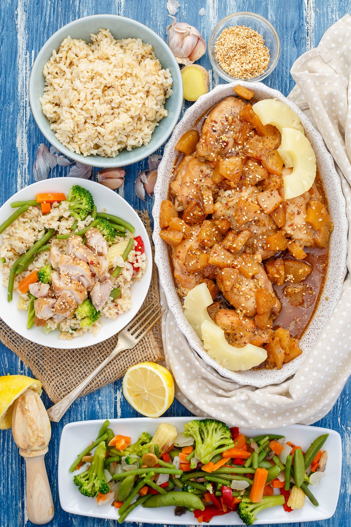 Warmer weather means more outside play and less time in the kitchen! This crockpot pineapple chicken recipe has all the flavors of summer, but the slow cooker won't heat up your house!