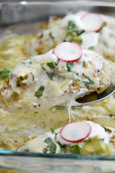 Baked Green Salsa Chicken
