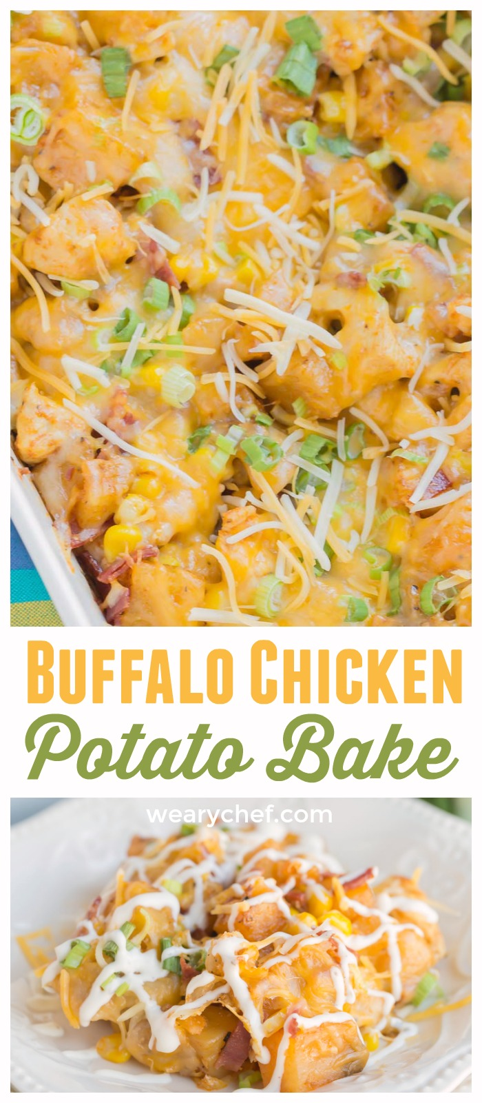 This flavorful Buffalo Chicken Potato Casserole comes together easily and is always a family favorite dinner recipe!