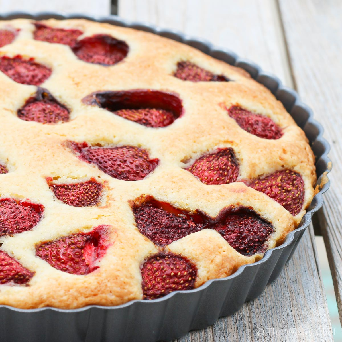 Are you ready for one of the easiest summertime desserts ever? You'll love this fresh strawberry cake! You can also make it with frozen berries any time of year.