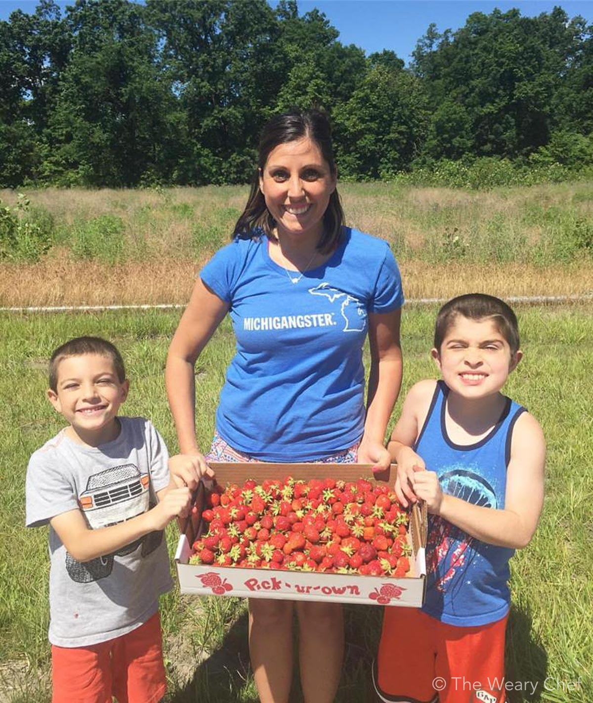 Summer strawberry picking with Crystal from Everyday Adventures :)