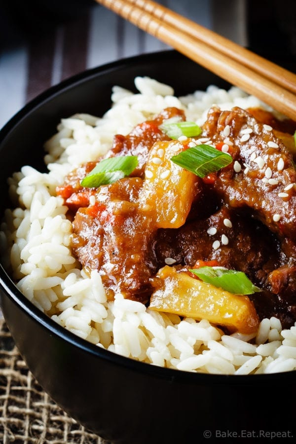 Spicy Slow Cooker Mongolian Beef - Bake. Eat. Repeat.