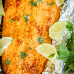 Foil Baked Salmon with Lime and Chile