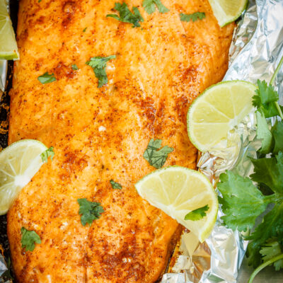 Foil Baked Salmon with Lime and Chili