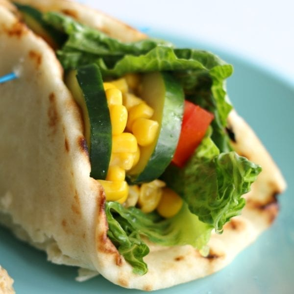 This quick and easy hummus wrap is a perfectly delicious and healthy meal! #hummus #naan #healthy #wrap #sandwich #lunch