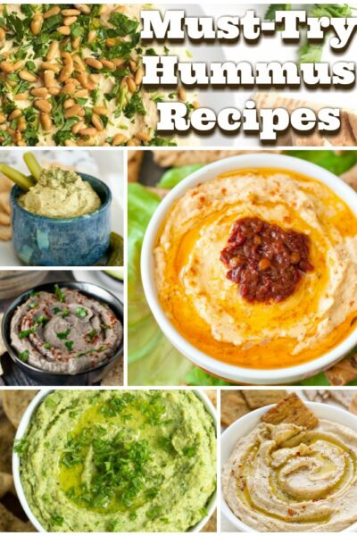 Easy Hummus Wrap + 10 Must Try Hummus Recipes