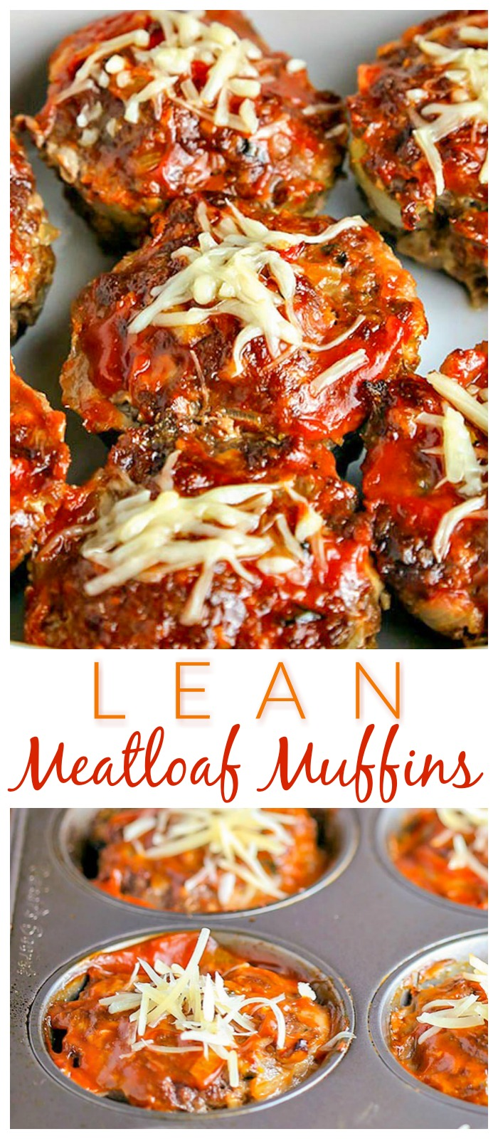 These cute and tasty Meatloaf Muffins are ready in under an hour and are made with lean ground beef! #beef #meatloaf #muffintin