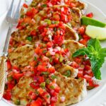 Grilled Pork Loin Chops with Fresh Strawberry Salsa