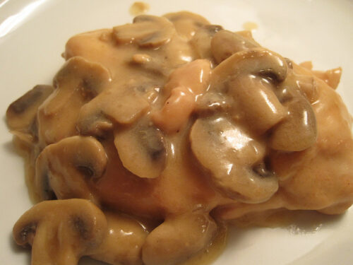 chicken portabello marsala can be made with regular mushrooms as well, as shown here.