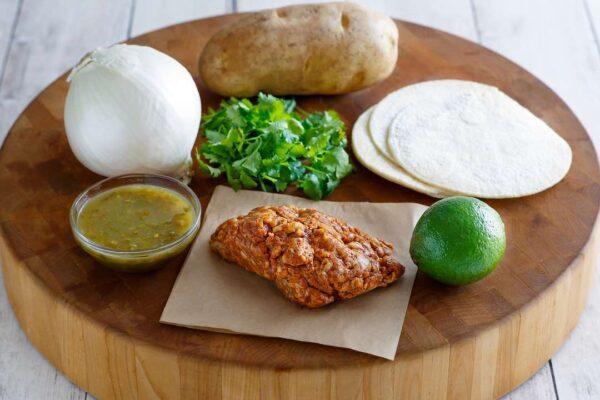 Chorizo & Potato Tacos ingredients