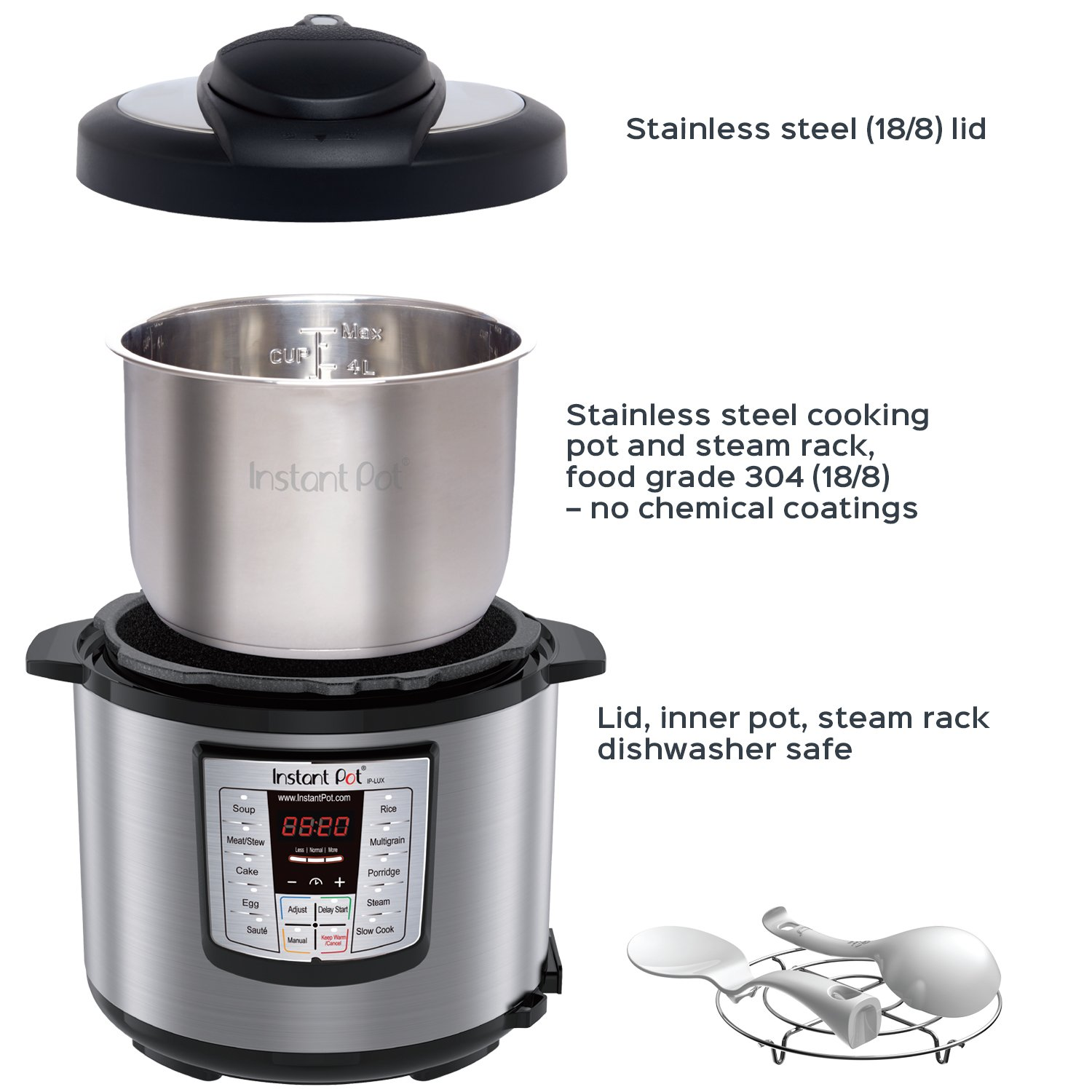 Instant Pot LUX60V3 V3 6 Qt 6-in-1 Multi-Use Programmable Pressure