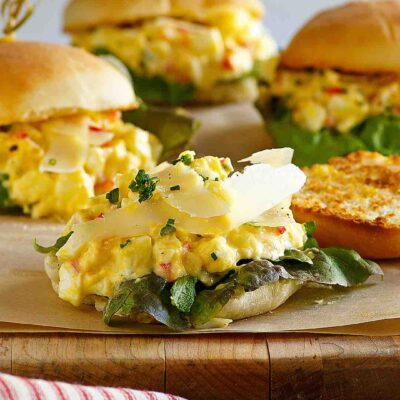 Truffled Egg Salad Sliders