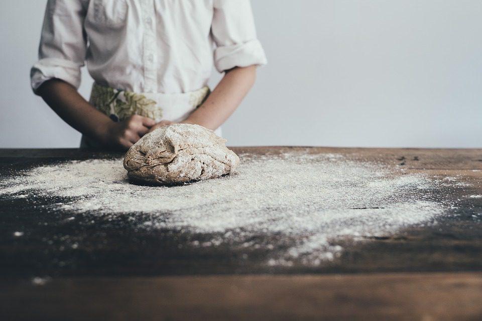chef making bread