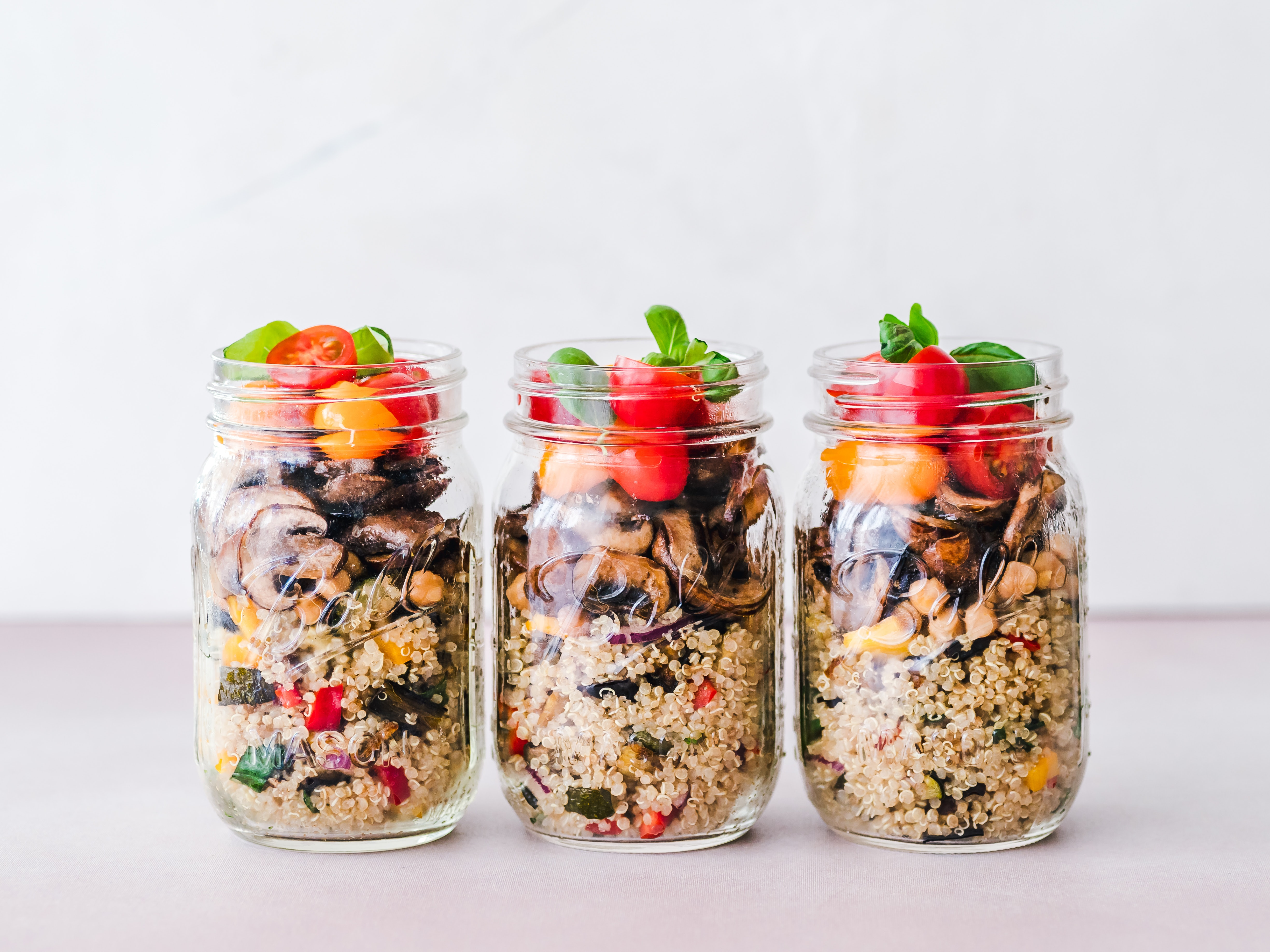 overnight oats in jars