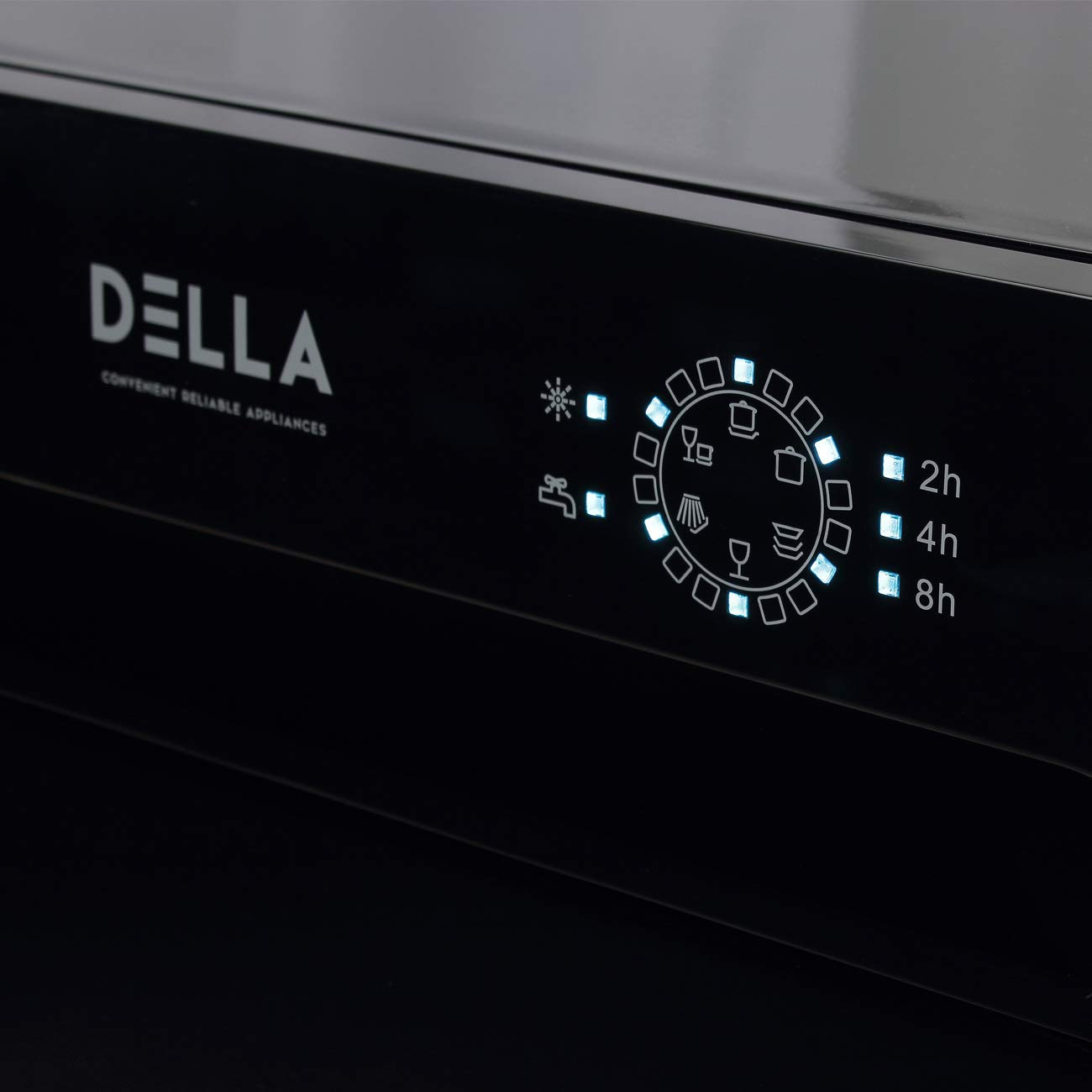 della portable dishwasher controls