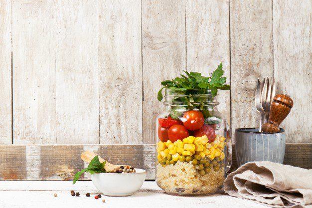walnut and apple on a mason jar
