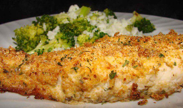 Tilapia with Parmesan Crust