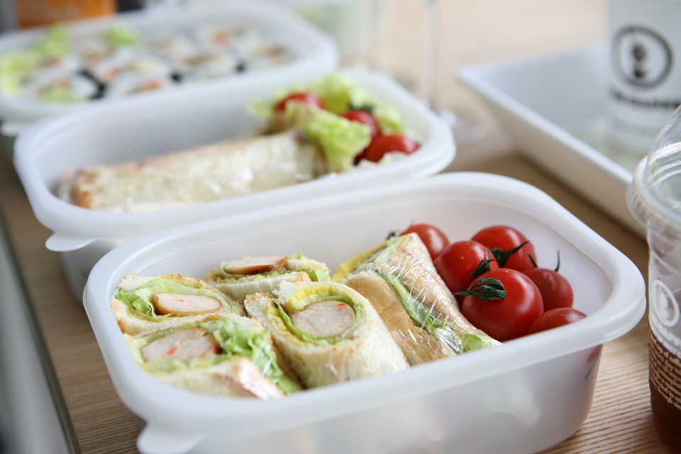 one of the lunch ideas placed on lunch boxes