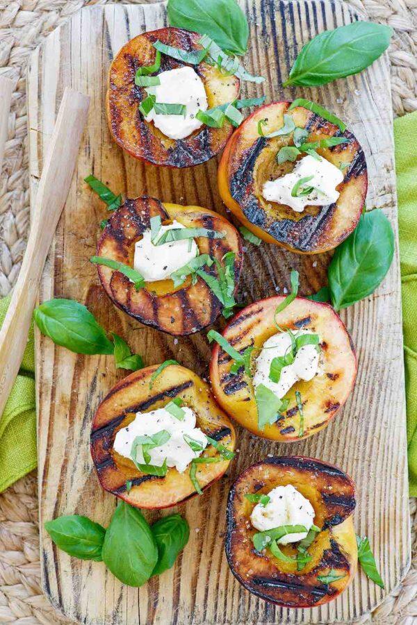 Grilled Stuffed Peaches recipe