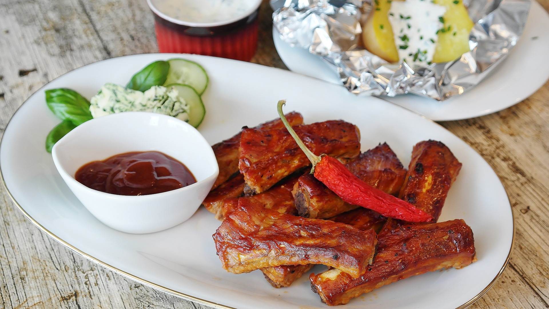 ribs grill bbq sauce